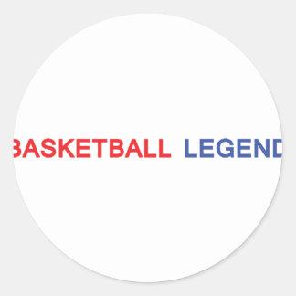 basketball legend icon round stickers