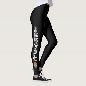 Professional Business Basketball Letters in a Black and White Leggings