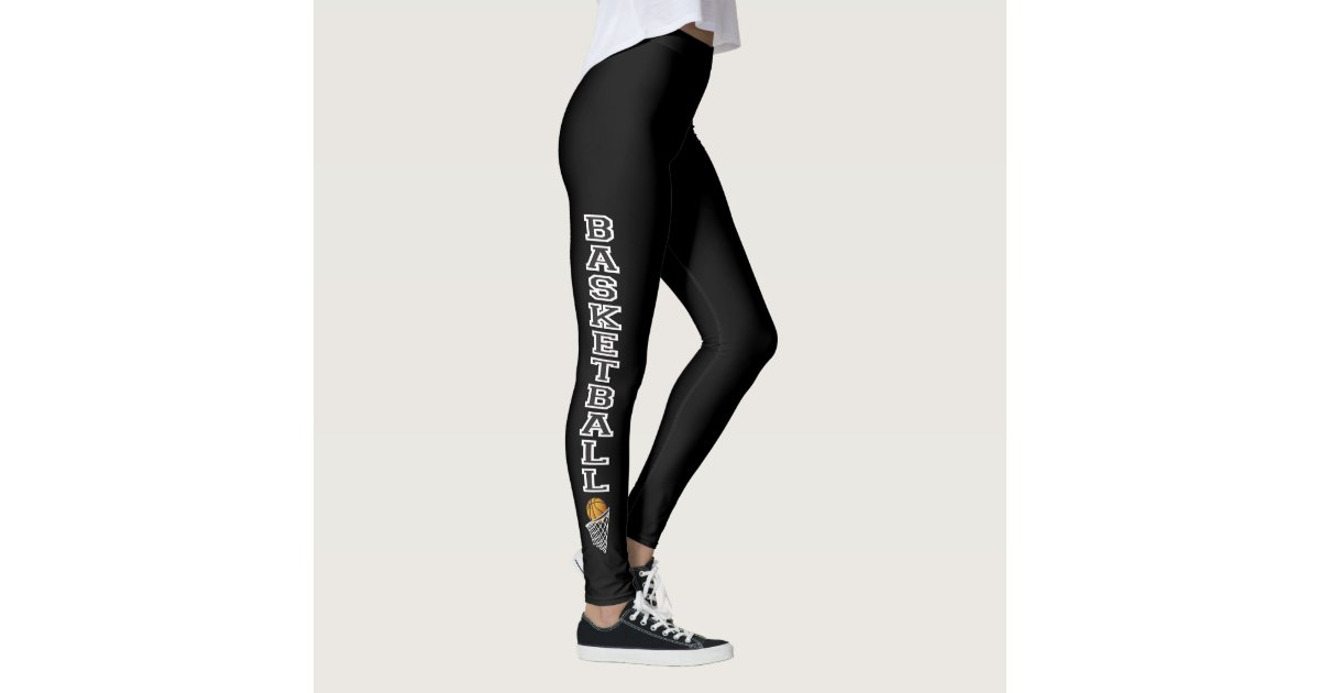 Basketball Letters In A Black And White Leggings Zazzle Com