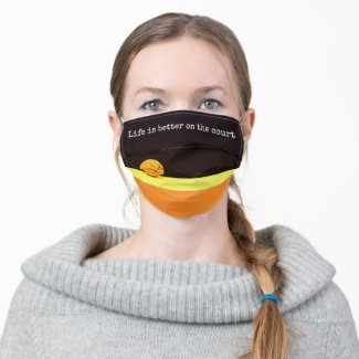 Basketball Life is better on the court on black Cloth Face Mask