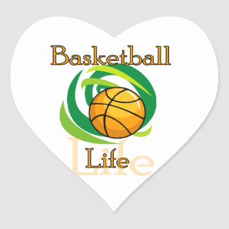 Basketball Life T-shirts and Gifts Heart Sticker