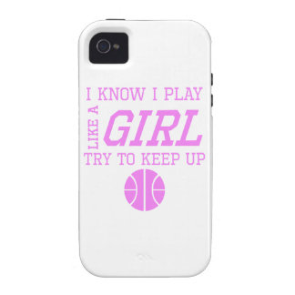 Basketball Like A Girl Case-Mate iPhone 4 Covers