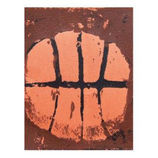 Basketball Lino Art Print by Shoots McHoop Postcard