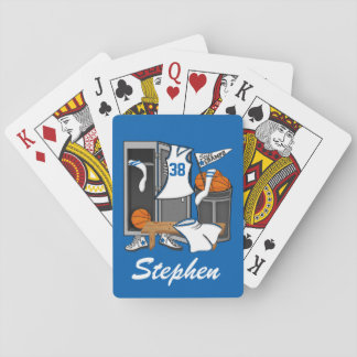 Basketball Locker Room Custom Player Name Number Playing Cards