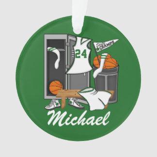 Basketball Lockerroom Custom Player Name Number Ornament