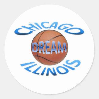 Basketball logo 02 classic round sticker