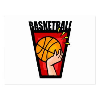 Basketball Logo hand & Ball Postcard