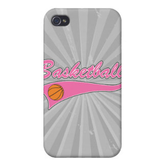 basketball logo pink womens girls cover for iPhone 4