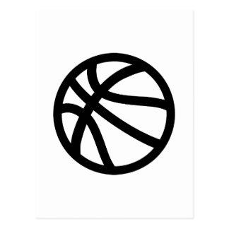 Basketball logo postcard