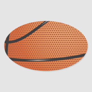Basketball Look gifts for fans Oval Sticker