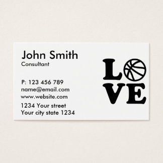 Basketball love business card