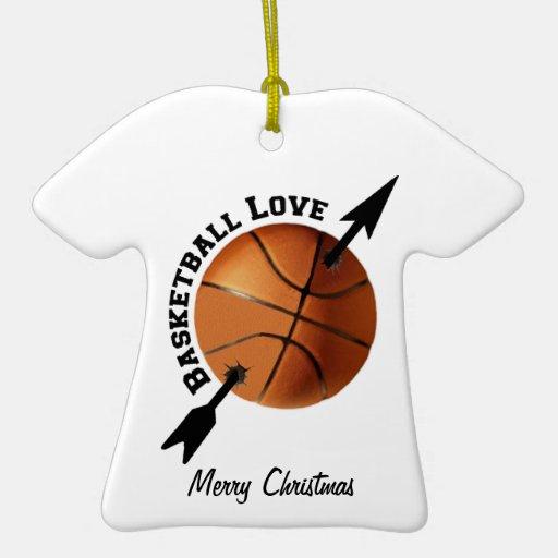 Basketball Love Ceramic Ornament