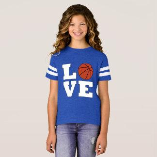 Basketball LOVE Girls Basketball Player Jersey T-Shirt