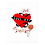 BASKETBALL! Love Me? Love My Sport Postcards