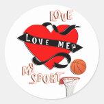 BASKETBALL! Love Me? Love My Sport Stickers