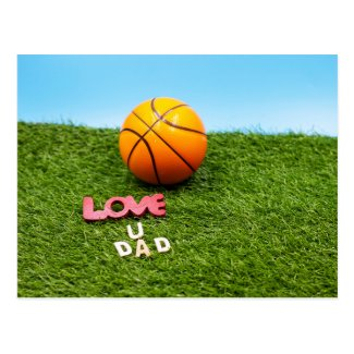 Basketball love you dad father day birthday Card