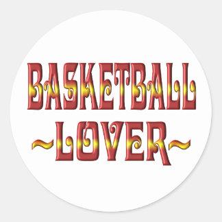 BASKETBALL LOVER CLASSIC ROUND STICKER