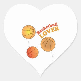 Basketball Lover Heart Sticker