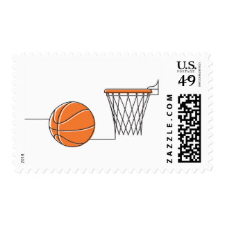 Basketball lover postage stamp