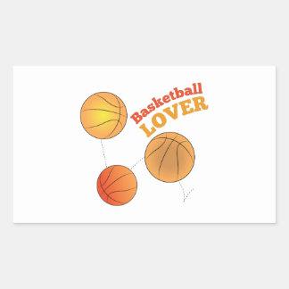 Basketball Lover Rectangular Sticker
