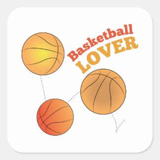 Basketball Lover Square Sticker