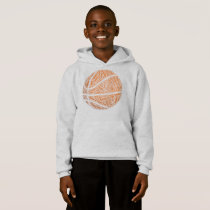 Basketball Made out of words Hoodie