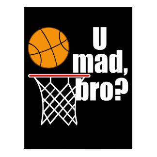 Basketball Madness Postcard