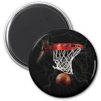 Basketball 2 Inch Round Magnet