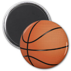 Basketball Magnet at Zazzle