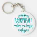 Basketball Makes Me Happy Key Chain