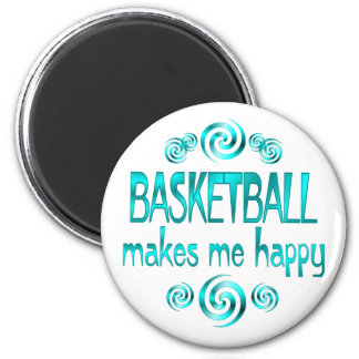 Basketball Makes Me Happy 2 Inch Round Magnet