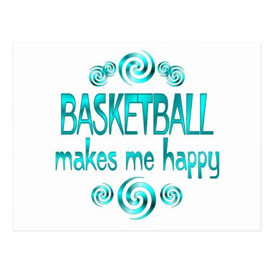 Basketball Makes Me Happy Postcard