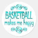 Basketball Makes Me Happy Sticker