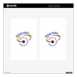 Basketball Makes The World Go Round Decal For Kindle Fire