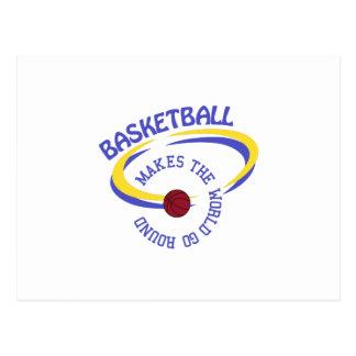 Basketball Makes The World Go Round Postcard