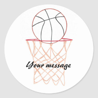 Basketball making the basket Your message stickers