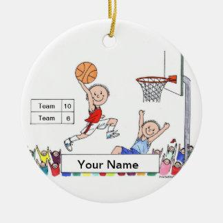 Basketball - Male Ceramic Ornament