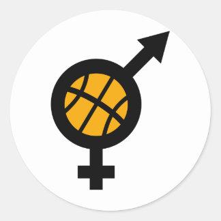 basketball male female icon sticker
