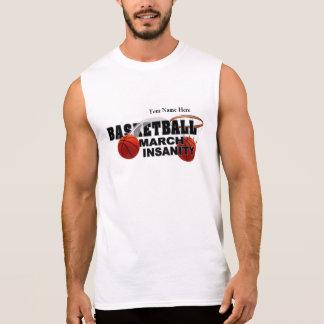 Basketball March Insanity - Customizable Sleeveless T-shirts