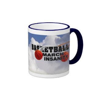 Basketball March Insanity - Customizable Version 2 Ringer Mug