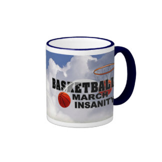Basketball March Insanity - Customize It Ringer Mug