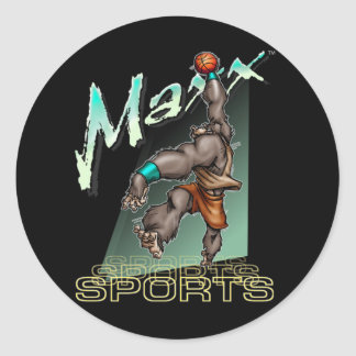 Basketball Maxx 2 Classic Round Sticker