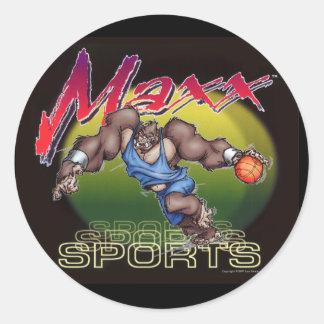 Basketball Maxx Round Stickers