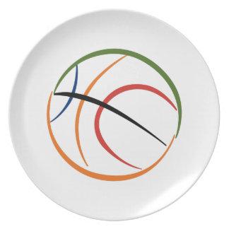Basketball Melamine Plate