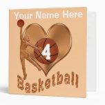 Basketball Memories Three Ring Binder for Girls