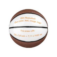 Basketball Mini Uni White ~ Own Color at Zazzle
