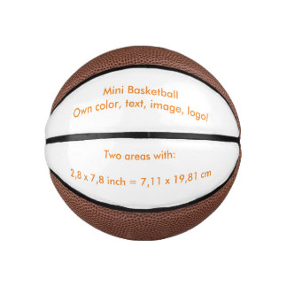 Basketball Mini uni White ~ Own Color