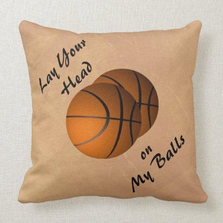 Basketball Mojo Sports Throw Pillow