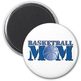 Basketball mom 2 inch round magnet