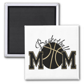 Basketball Mom 2 Inch Square Magnet